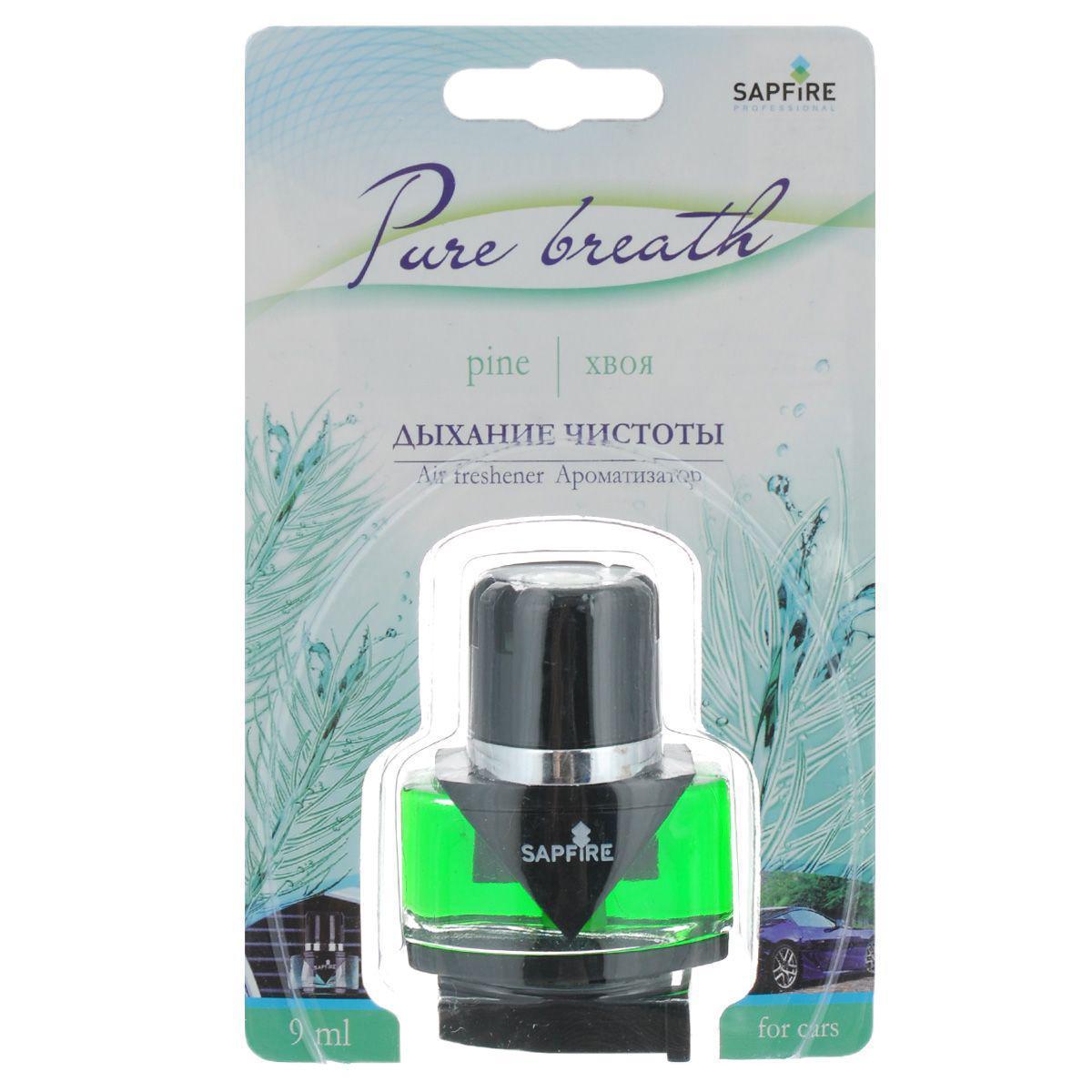 Ароматизатор в дефлектор Sapfire Pure Breath, хвоя дефлектор автомобильный
