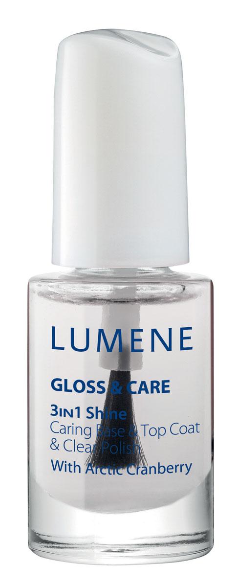 LUMENE Средство Lumene Gloss & Care 3в1: ухаживающая основа + закрепляющее покрытие + сияющий блеск, 5 млA6098500LUMENE GLOSS & CARE 3-IN-1 SHINE CARING BASE & TOP COATСРЕДСТВО LUMENE GLOSS & CARE 3В1: УХАЖИВАЮЩАЯ ОСНОВА+ ЗАКРЕПЛЯЮЩЕЕ ПОКРЫТИЕ+СИЯЮЩИЙ БЛЕСК С маслом семян арктической клюквыПрименение: возможно использование в качестве блестящего прозрачного лака, а также базы или закрепляющего покрытия для лака.