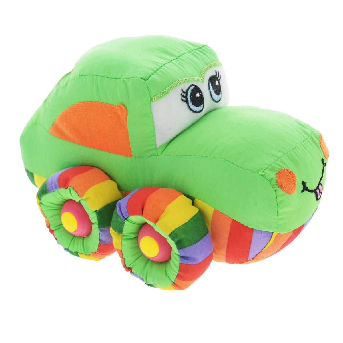 Мягкая озвученная игрушка Tongde Радужный транспорт. В72432 мягкая озвученная игрушка tongde фронтальный погрузчик в72429