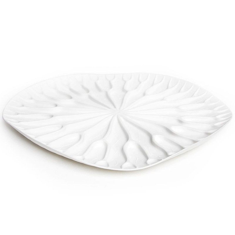 Сушилка-поднос Lotus белаяВетерок 2ГФКак известно, лотосы растут в воде, а значит, великолепная сушилка для посуды в виде листка лотоса должна быть поближе к раковине. Поставьте ее на столешницу или в шкаф, чтобы вода со свежевымытых стаканов, чашек, тарелок или столовых приборов стекала вниз на силиконовые желобки. Плюс к этому такую красоту можно использовать в качестве сервировочного подноса для овощей и фруктов.Материал: пластик, цвет: Белый