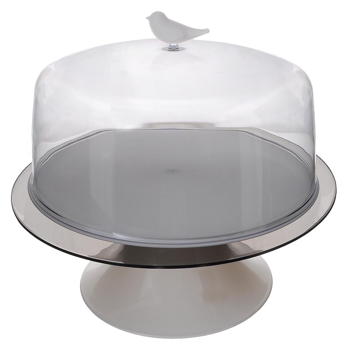 Тортовница Qualy Sparrow, диаметр 28,5 см115510Красивая тортовница Qualy Sparrow, изготовленная из высококачественного ABS пластика, решает проблему подачи тортиков и самодельных пирогов. Плюс ко всему, она идеальна для хранения: вкусности внутри не заветрятся, на них случайно не попадет грязь, а домашние животные не стащат ни кусочка. Можно использовать для блинов, пирожных, нарезанных фруктов, тарталеток и других десертов. Изделие состоит из двух подносов (верхнего и нижнего), подставки и крышки, декорированной фигуркой птички.Диаметр верхнего подноса: 28,5 см. Диаметр нижнего подноса: 33,5 см. Высота подставки: 13 см. Диаметр крышки: 29,5 см. Высота крышки: 16,5 см.