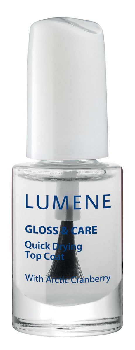 LUMENE Быстросохнущее покрытие для закрепления лака Lumene Gloss & Care 3в1, 5 мл28032022LUMENE GLOSS & CARE NAIL STRENGTHENER СРЕДСТВО ДЛЯ УКРЕПЛЕНИЯ НОГТЕЙ LUMENE GLOSS&CAREС маслом семян арктической клюквыПрименение: нанести в 1-2 слоя на очищенную поверхность ногтя или в 1 слой в качестве основы под лак. Укрепляет ногти, препятствует ломкости.