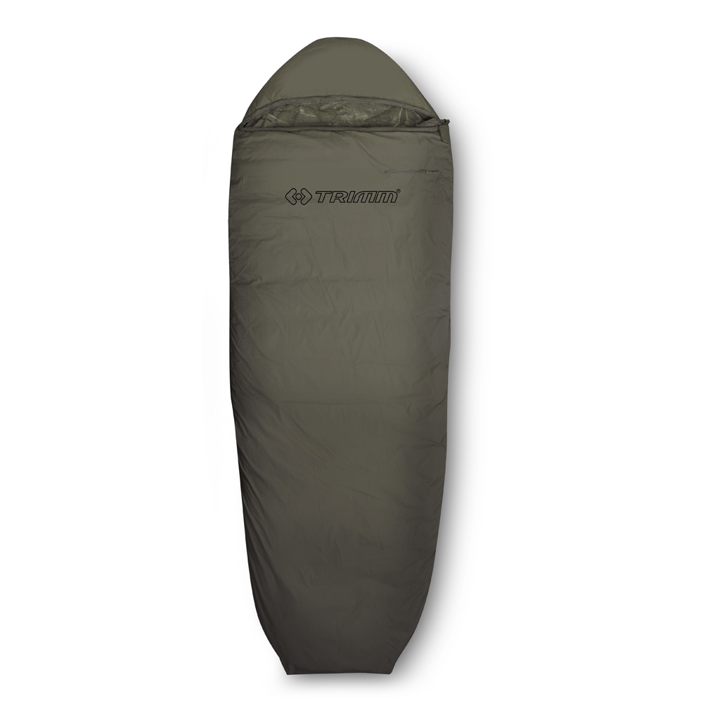 Спальный мешок Trimm Scout, правосторонняя молния, цвет: хаки67742Trimm Scout - бюджетный вариант спального мешка в форме кокона. Эта модель предназначена для теплого времени года и пригодится любителям активного отдыха.Спальный мешок Trimm Scout принадлежит к серии Lite, в которую входят модели для летнего отдыха, но могут применяться весной и осенью при небольших похолоданиях. Отличительной чертой является наличие капюшона с москитной сеткой, полностью изолирующей от насекомых. Модель сертифицирована и согласно стандарту EN 13537 может использоваться при 11 градусах мороза, но для комфорта туриста все-таки рекомендуется пользоваться спальником при температуре окружающей среды до 3 градусов тепла.Модель Trimm Scout легко укладывается в походный, компрессионный мешок, после чего его объем уменьшается, а это позволит без труда найти для него место хоть на багажнике велосипеда, хоть в рюкзаке. В рабочем состоянии размеры спального места составляют: длина - 235 см, ширина - 35/85 см (снизу вверх), что дает возможность разместиться в нем человеку ростом до 195 см.Наружный слой спальника изготовлен из легкого, мягкого, водозащитного и устойчивого к разрывам нейлона, а внутренний - из дышащего, износостойкого нейлона, между слоями находится слой синтетического материала Termolite Extra плотностью 150 г/м2, что обеспечит необходимый уровень термоизоляции.Достоинства и основные характеристики: Материал внешнего слоя - износостойкий, водонепроницаемый нейлон;Материал внутреннего слоя - дышащий нейлон;Наполнитель - Termolite Extra, который обладает гипоаллергенными свойствами и уровнем теплоизоляции, приемлемым для теплого времени года;Вес - 1,65 кг.Температурная шкала сертифицирована согласно европейскому стандарту EN 13537.Гарантия: Компания Trimm предоставляет гарантию на изделие в течение 1 года с момента приобретения.