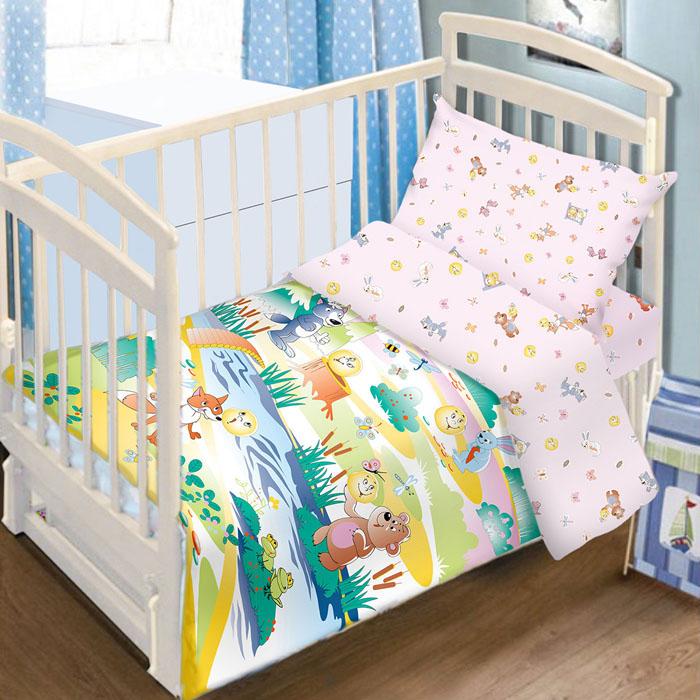 Комплект детского постельного белья Baby Nice Колобок, цвет: розовый, 3 предмета1060-4Детский комплект постельного белья Baby Nice Колобок состоит из наволочки, пододеяльника и простыни на резинке. Такой комплект идеально подойдет для кроватки вашего малыша и обеспечит ему здоровый сон. Он изготовлен из натурального 100% хлопка, дарящего малышу непревзойденную мягкость. Натуральный материал не раздражает даже самую нежную и чувствительную кожу ребенка, обеспечивая ему наибольший комфорт. Простыня с помощью специальной резинки растягивается на матрасе. Она не сомнется и не скомкается, как бы не вертелся ребенок. Приятный рисунок комплекта, несомненно, понравится малышу и привлечет его внимание. На постельном белье Baby Nice Колобок ваша кроха будет спать здоровым и крепким сном.В комплект входит подарок: книжка-раскраска по мотивам русских народных сказок.