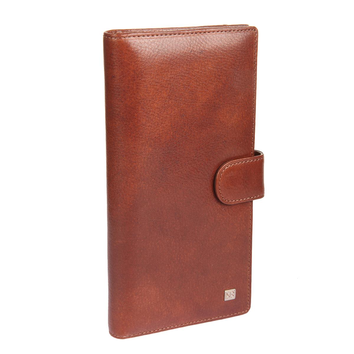 Портмоне мужское Sergio Belotti, цвет: коричневый. 3285BM8434-58AEСтильное мужское портмоне Sergio Belotti выполнено из натуральной высококачественной кожи. Лицевая сторона оформлена небольшой металлической пластиной с гравировкой в виде названия бренда. Изделие закрывается хлястиком на кнопку. Внутри расположены два отделения для купюр, четырнадцать прорезных карманов для кредитных карт или визиток, боковой карман для мелких бумаг. На тыльной стороне портмоне - отделение для мелочи, закрывающееся клапаном на магнитную кнопку и дополненное двумя отсеками и шестью прорезями для банковских карт.Изделие упаковано в фирменную коробку. Такое портмоне станет отличным подарком для человека, ценящего качественные и необычные вещи.