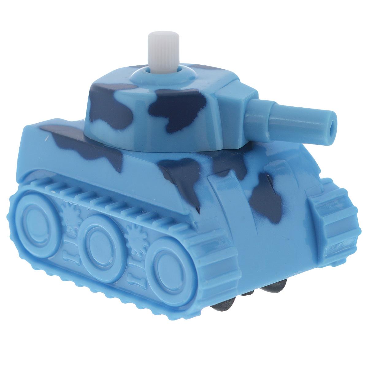 Игрушка заводная Танчик, цвет: голубой игрушка танк