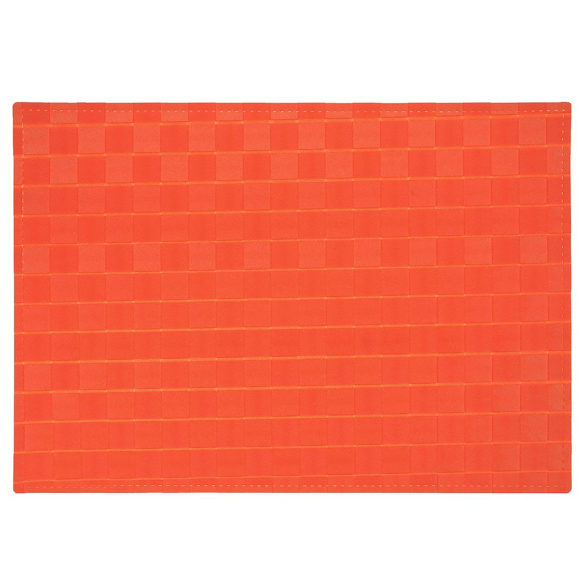 Подставка под горячее Amadeus, цвет: оранжевый, 43 х 30 см115510Плетеная прямоугольная подставка под горячее Amadeus выполнена из мягкого цветного пластика. Подставка не боится высоких температур и легко чистится от пятен и жира.Каждая хозяйка знает, что подставка под горячее - это незаменимый и очень полезный аксессуар на каждой кухне. Ваш стол будет не только украшен оригинальной подставкой, но и сбережен от воздействия высоких температур ваших кулинарных шедевров.Размер подставки: 43 см х 30 см.
