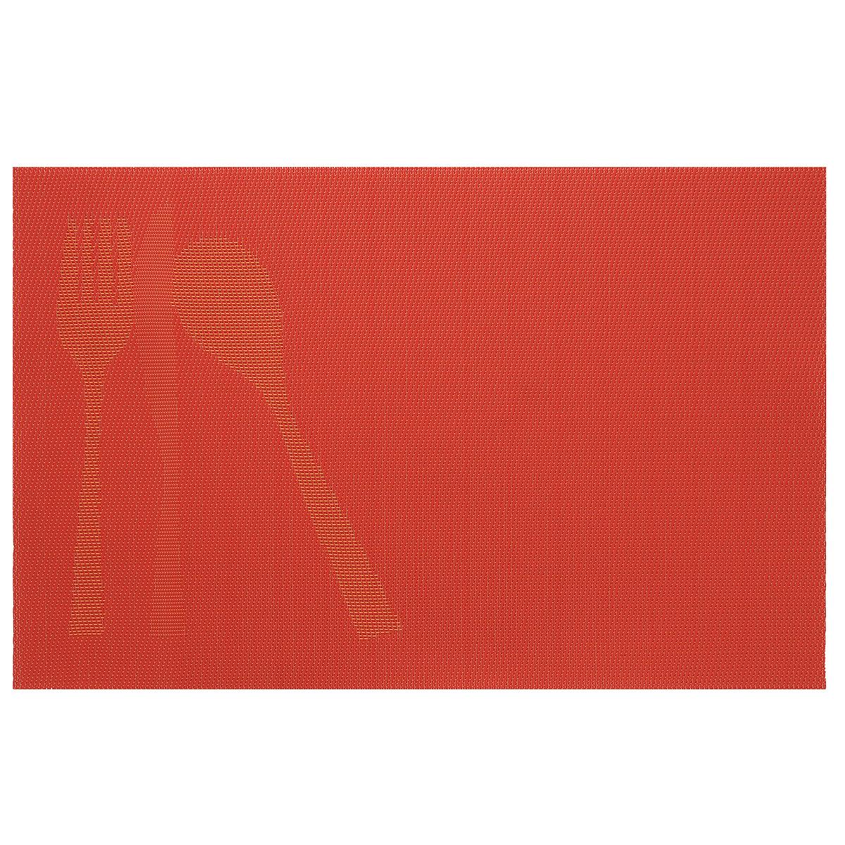 Подставка под горячее Amadeus, цвет: оранжевый, 44 х 29 см 28HZ-9085FS-91909Прямоугольная подставка под горячее Amadeus выполнена из мягкого пластика и декорирована рисунком с изображением столовых приборов. Подставка не боится высоких температур и легко чистится от пятен и жира.Каждая хозяйка знает, что подставка под горячее - это незаменимый и очень полезный аксессуар на каждой кухне. Ваш стол будет не только украшен оригинальной подставкой с красивым рисунком, но и сбережен от воздействия высоких температур ваших кулинарных шедевров.Размер подставки: 44 см х 29 см.