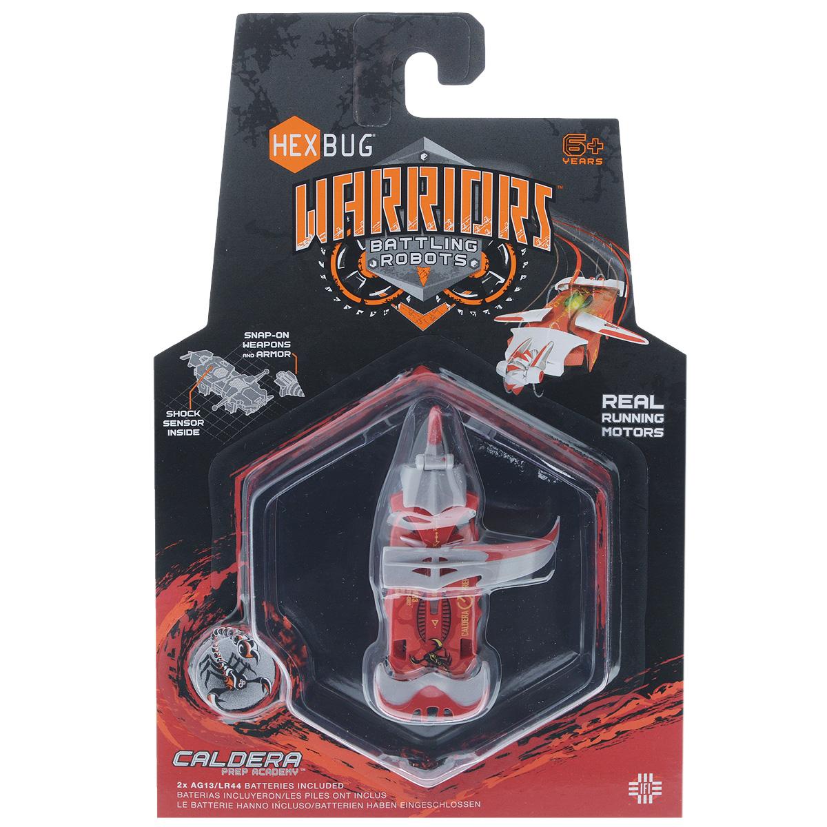 Микро-робот Hexbug Warriors. Caldera, цвет: красный. S1-4B hexbug игровой набор с микро роботами нано v2 ланчпад neon