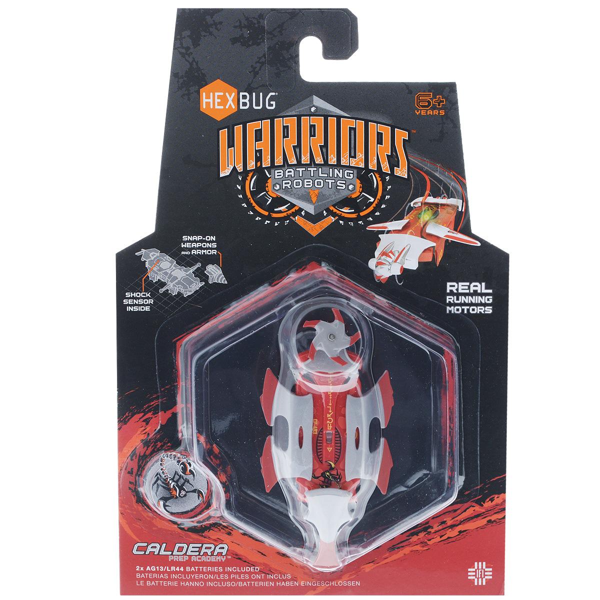 Микро-робот Hexbug Warriors. Caldera, цвет: красный. S1-4С hexbug игровой набор с микро роботами нано v2 ланчпад neon