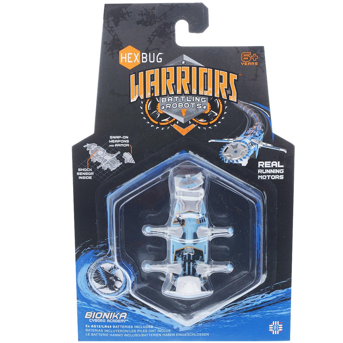 Микро-робот Hexbug Warriors. Bionika, цвет: голубой. S1-2В hexbug игровой набор с микро роботами нано v2 ланчпад neon