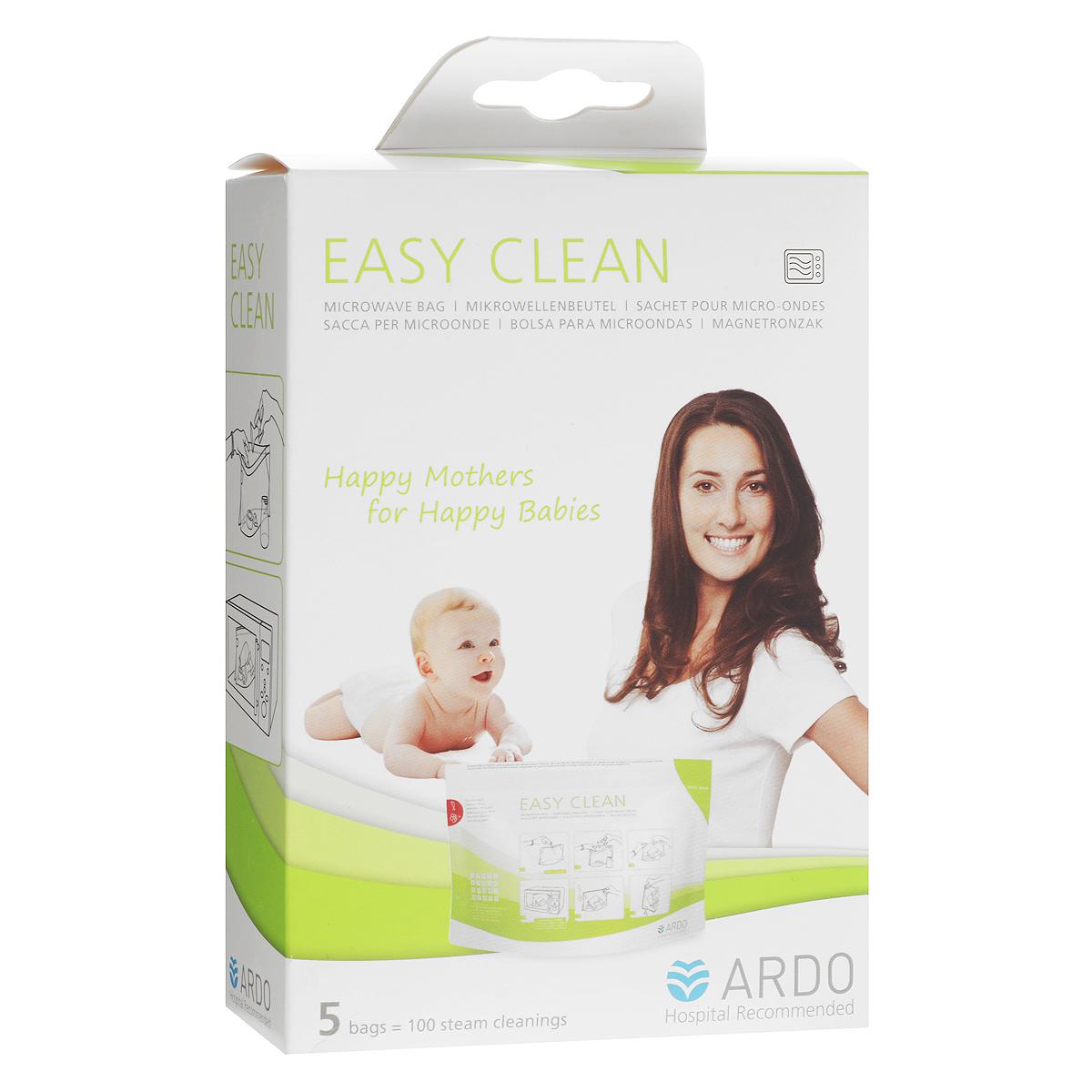 Пакеты Easy Clean от компании Ardo эффективно убивают бактерии и микробы на 99,9%. Достаточно всего пары минут для полной стерилизации - экономия времени и электроэнергии. Пакеты имеют пароотводный клапан, который защитит вас от паровых ожогов при открытии пакета Компактные, простые и безопасные в использовании. Храните стерилизованный комплект в закрытом пакете до времени использования. Пакет откройте только перед использованием. В упаковке 5 пакетов (1 упаковки хватает на 100 применений).