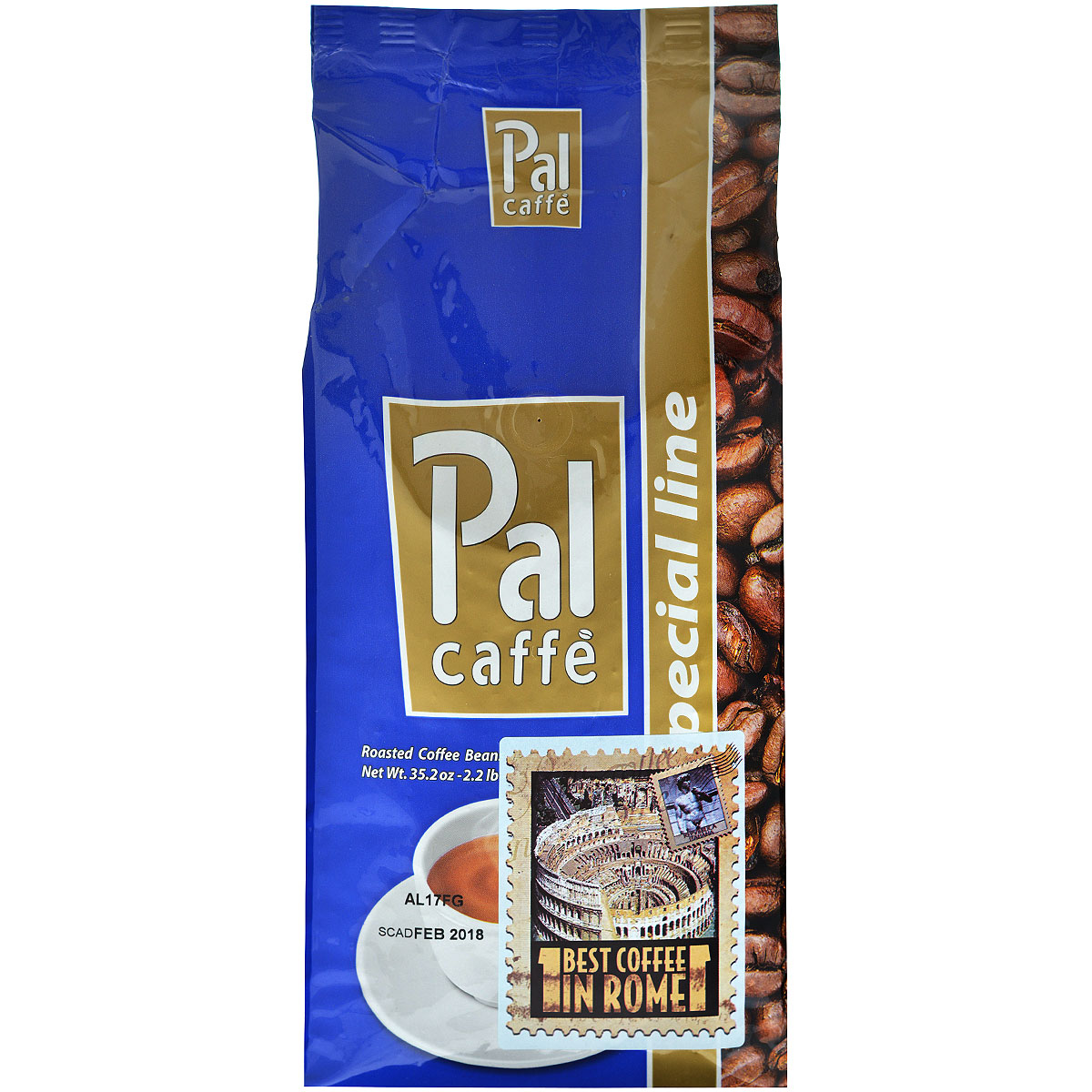 Palombini Pal Oro кофе в зернах, 1 кг0120710Натуральный жареный кофе высшего сорта Palombini Pal Oro в зернах. Бразильская Арабика, выращенная на низких плоскогорьях придает кофе ореховый букет и слегка заметную кислинку. Вкус Pal Oro незабываем. Рекомендуется для приготовления ристретто, эспрессо, капучино. Состав смеси: 90% арабика, 10% робуста.