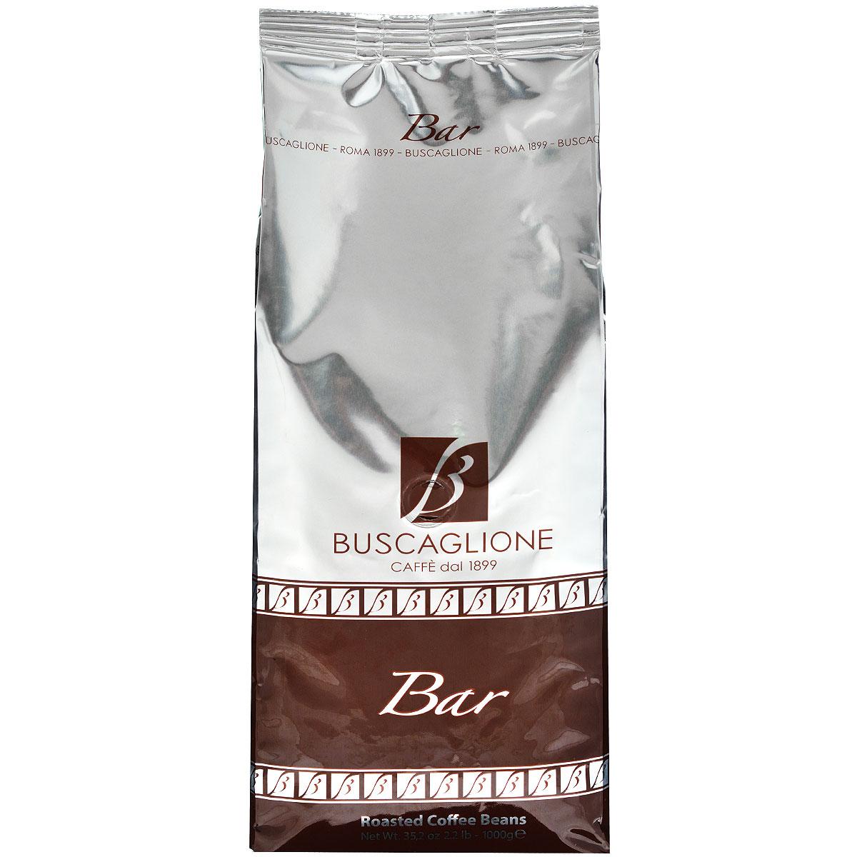 Buscaglione Bar кофе в зернах, 1 кг8033300581032Традиционная смесь 90% американской арабики и 10% африканской робусты, преимущественно сухой очистки. Густой, напоминающий крем, сладковатый кофе с нотками какао и жареного хлеба. Рекомендуется для приготовления эспрессо, лунго, коктейлей на основе кофе.