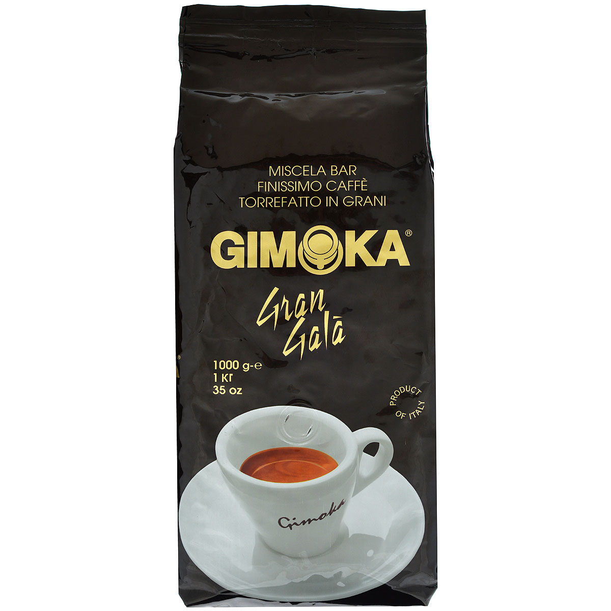 Gimoka Nero Gran Gala кофе в зернах, 1 кг0120710Натуральный жареный кофе в зернах Gimoka Nero Gran Gala. Деликатная кофейная смесь Арабики для самых взыскательных гурманов. Обладает мягким ароматом и нежным бархатным вкусом. Состав смеси: 90% арабика, 10% робуста.