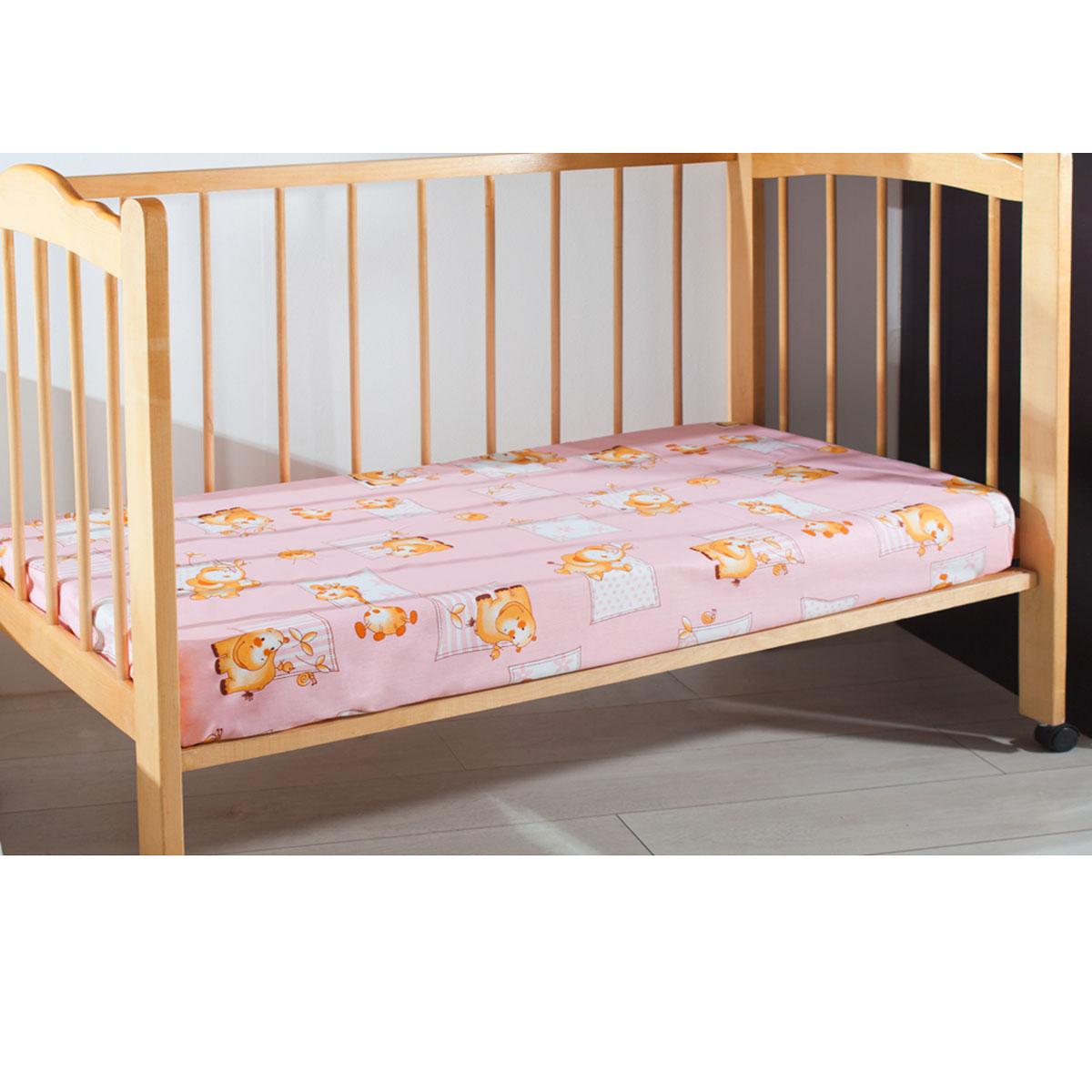 Простыня детская Primavelle, цвет: розовый, 120 см х 180 см11461210-26Мягкая простыня на резинке Primavelle идеально подойдет для кроватки вашего малыша и обеспечит ему здоровый сон. Она изготовлена из натурального 100% хлопка, дарящего малышу непревзойденную мягкость.Подарите вашему малышу комфорт и удобство!