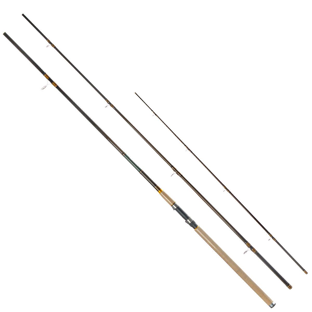Удилище фидерное Daiwa Procaster Heavy Feeder, 4,2 м, 150 гLJPS-902MMFУникальность удилища Daiwa Procaster Heavy Feeder в том, что оно прощают много ошибок, как при забросе, так и при вываживании. Большая длина позволяет забрасывать кормушку на более дальние расстояния, а также подняв удилище повыше, проводить рыбу над бровкой, избавляясь от зацепов или схода. Рукоятка удилища выполнена из пробки, за счет чего оно имеет небольшой вес. В комплекте 3 сменные вершинки из графитового материала.Поставляется в чехле.Тест: 150 г.
