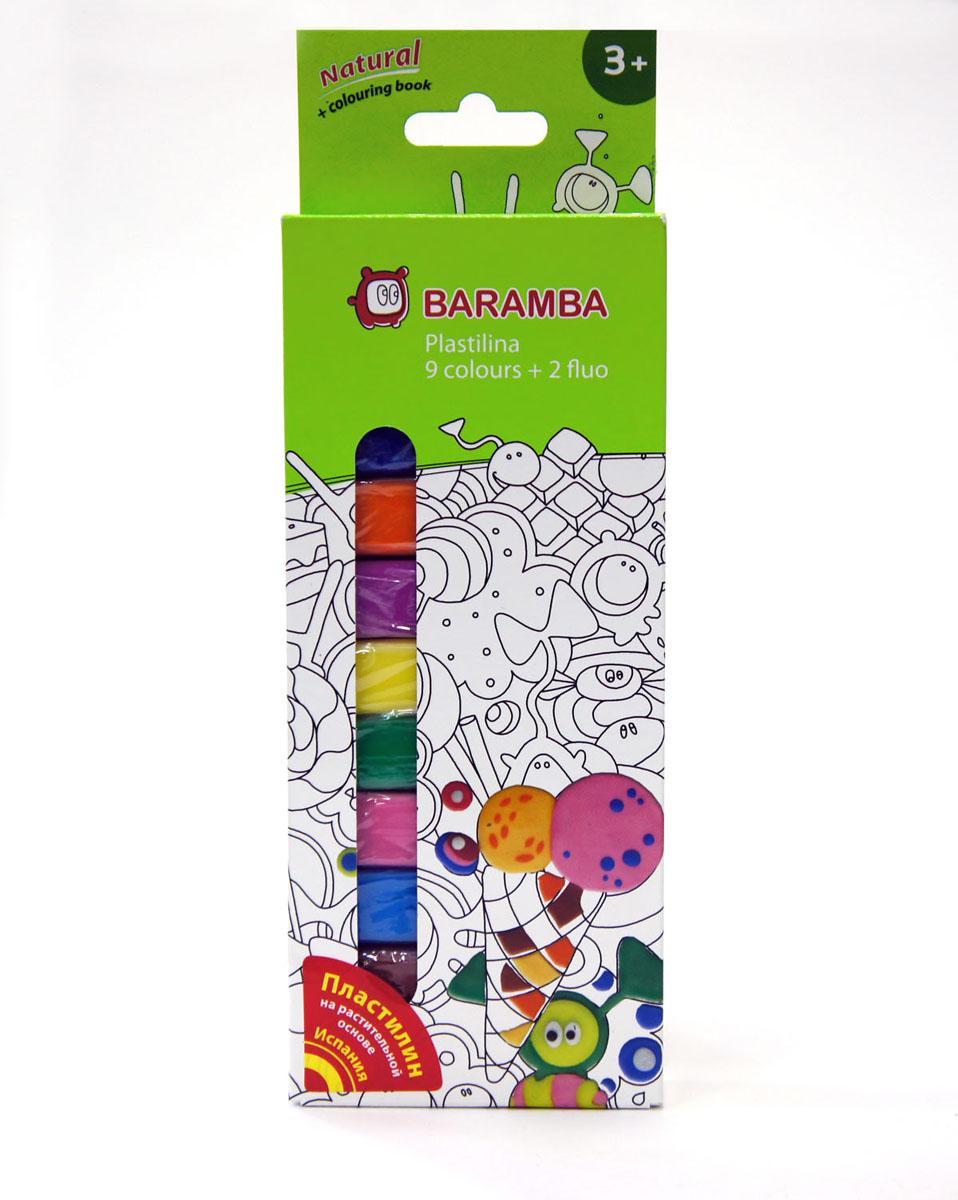 Пластилин Baramba School-hobby, 11 цветов72523WDПластилин Baramba School-hobby - лучший выбор для лепки, он обладает превосходными изобразительными возможностями и поэтому дает простор воображению и самым смелым творческим замыслам. Пластилин, изготовленный на растительной основе, очень мягкий, легко разминается и смешивается, не пачкает руки и не прилипает к рабочей поверхности. Пластилин пригоден для создания аппликаций и поделок, ручной лепки, моделирования на каркасе, пластилиновой живописи - рисовании пластилином по бумаге, картону, дереву или текстилю. Благодаря удобной форме, брусочки пластилина очень удобно держать в руках.В набор входят 9 классических цветов (синий, зеленый, белый, красный, черный, голубой, сиреневый, коричневый, розовый), 2 флуоресцентных цвета (лимонный, оранжевый) и одна раскраска.