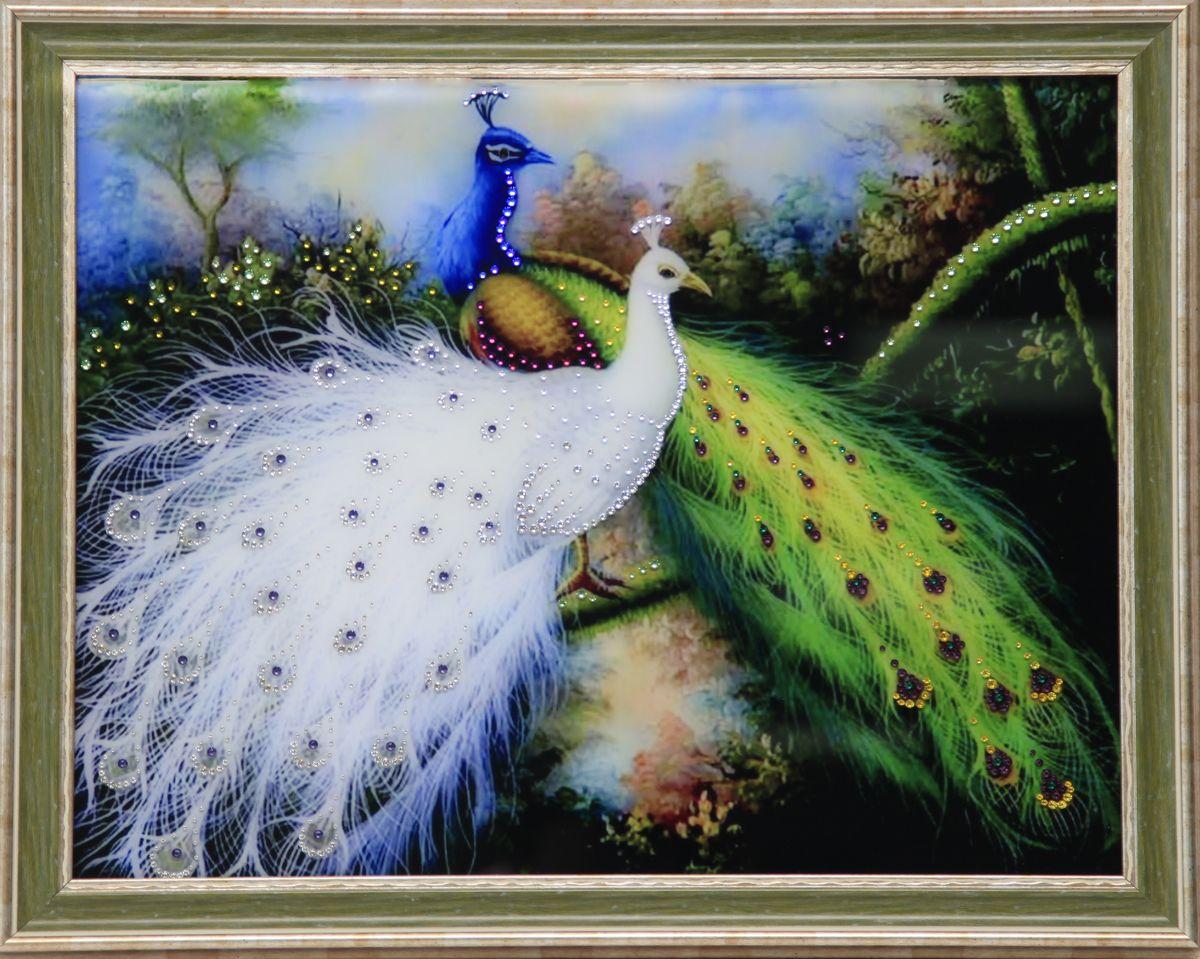1621 Картина Сваровски Королевские птицыRG-D31Sстекло, хрусталь, алюминий. 56,7х46,7
