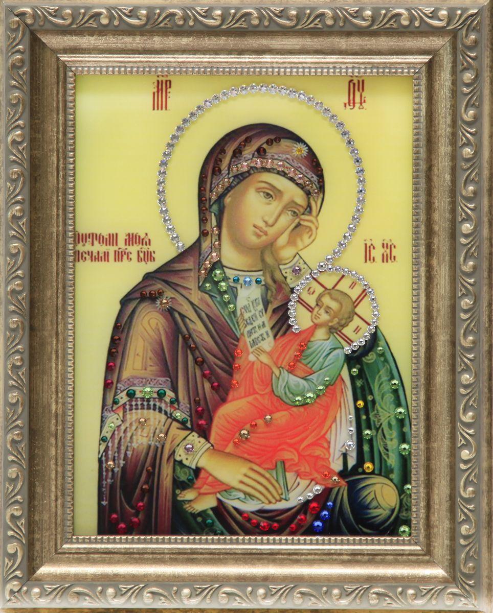 1616 ИконаУтоли мои печалиRG-D31Sстекло, хрусталь, алюминий. 20,3х25,3