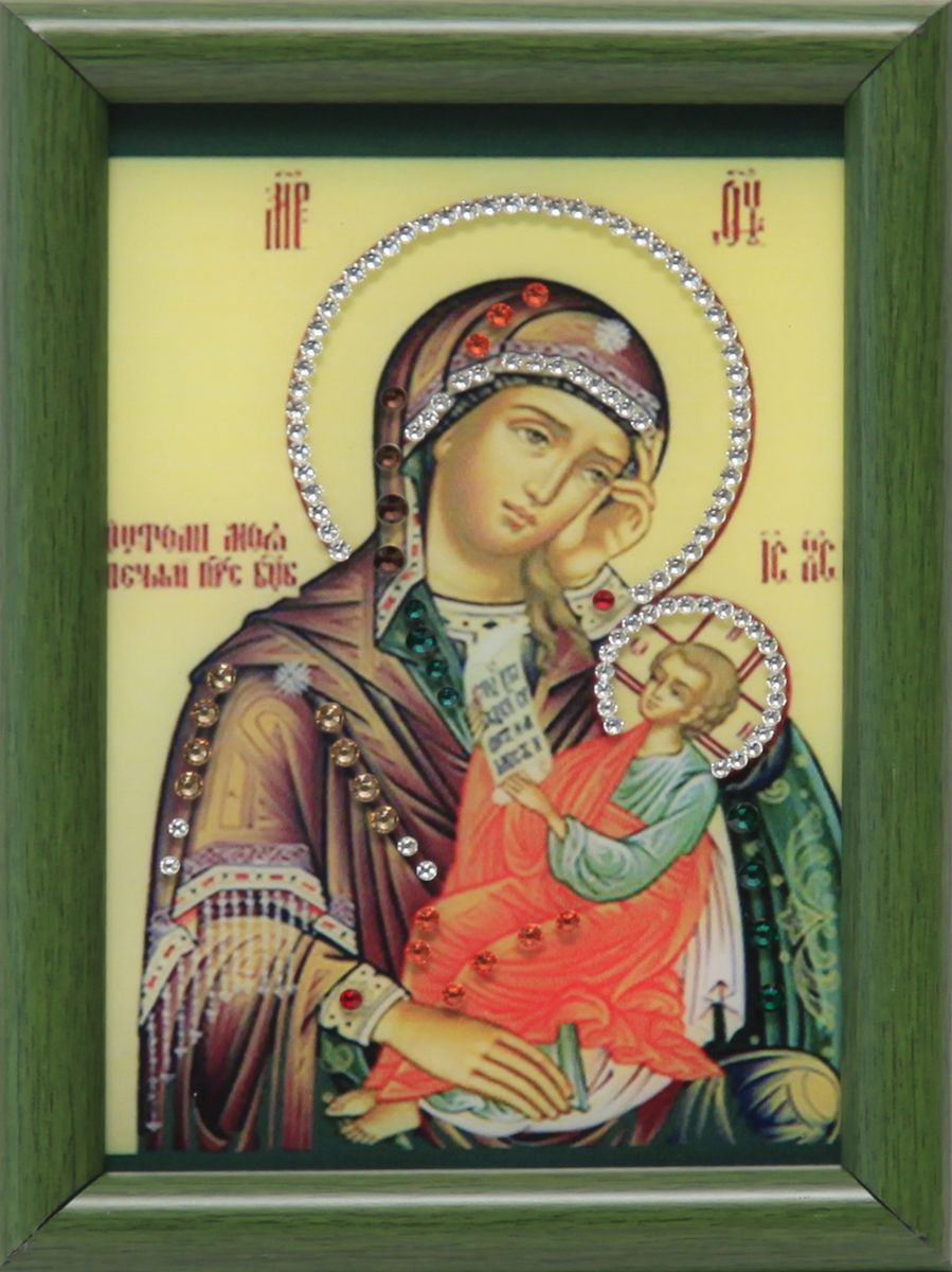 1618 Икона малая Утоли мои печали4607161056066стекло, хрусталь, пластик. 12х17