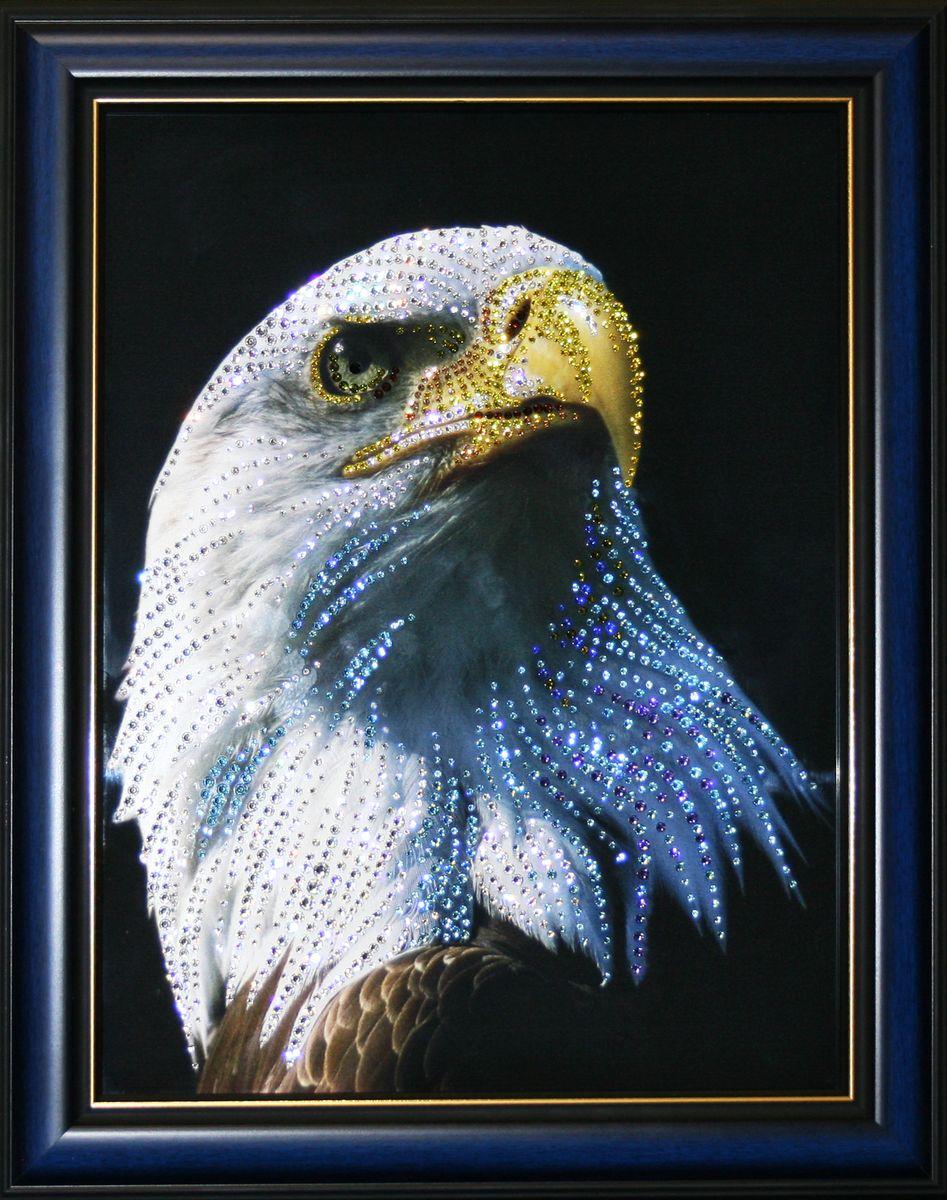 1596 Картина Сваровски ГОРДОСТЬ12723стекло, хрусталь, пластик. 38х48