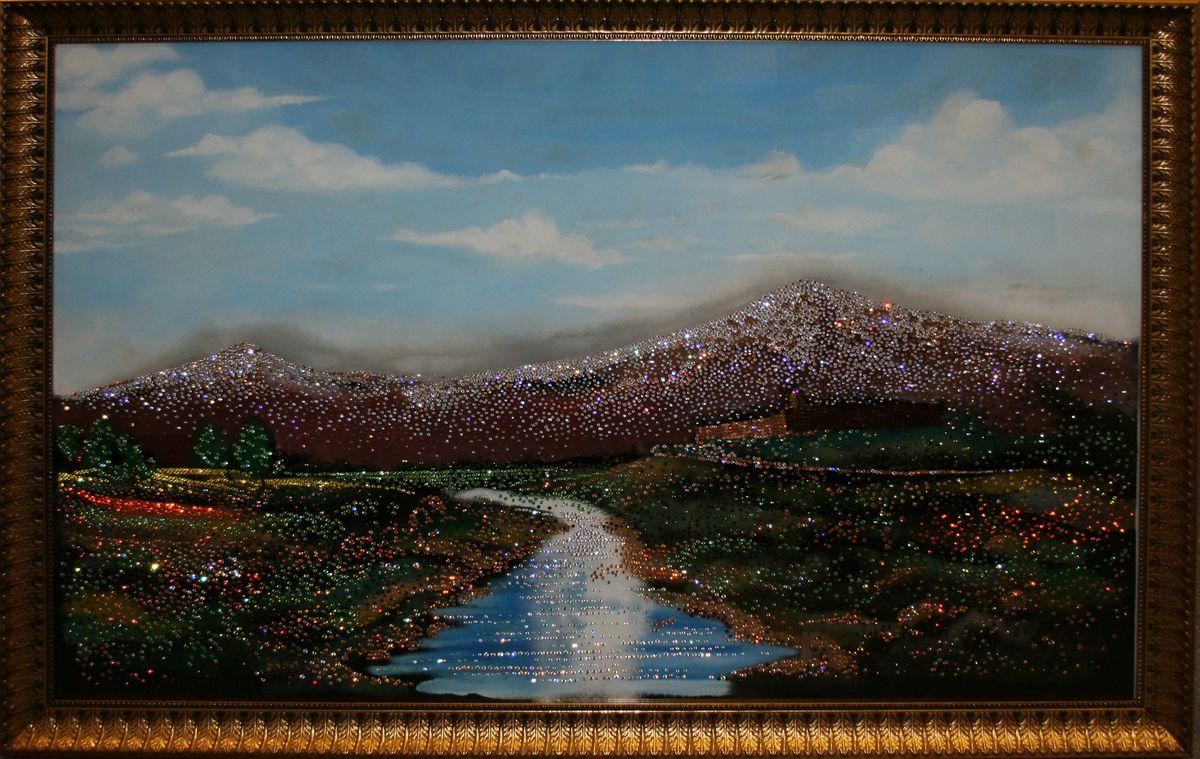 1402 Картина Сваровски Гора Арарат1545стекло, хрусталь, пластик. 133х103