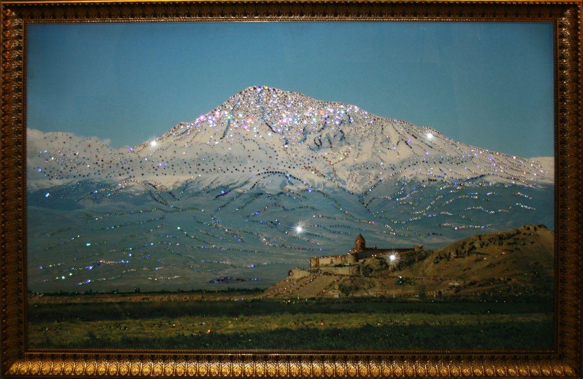 1409 Картина Сваровски Гора Арарат (Сис Масис)1743стекло, хрусталь, пластик. 133х103