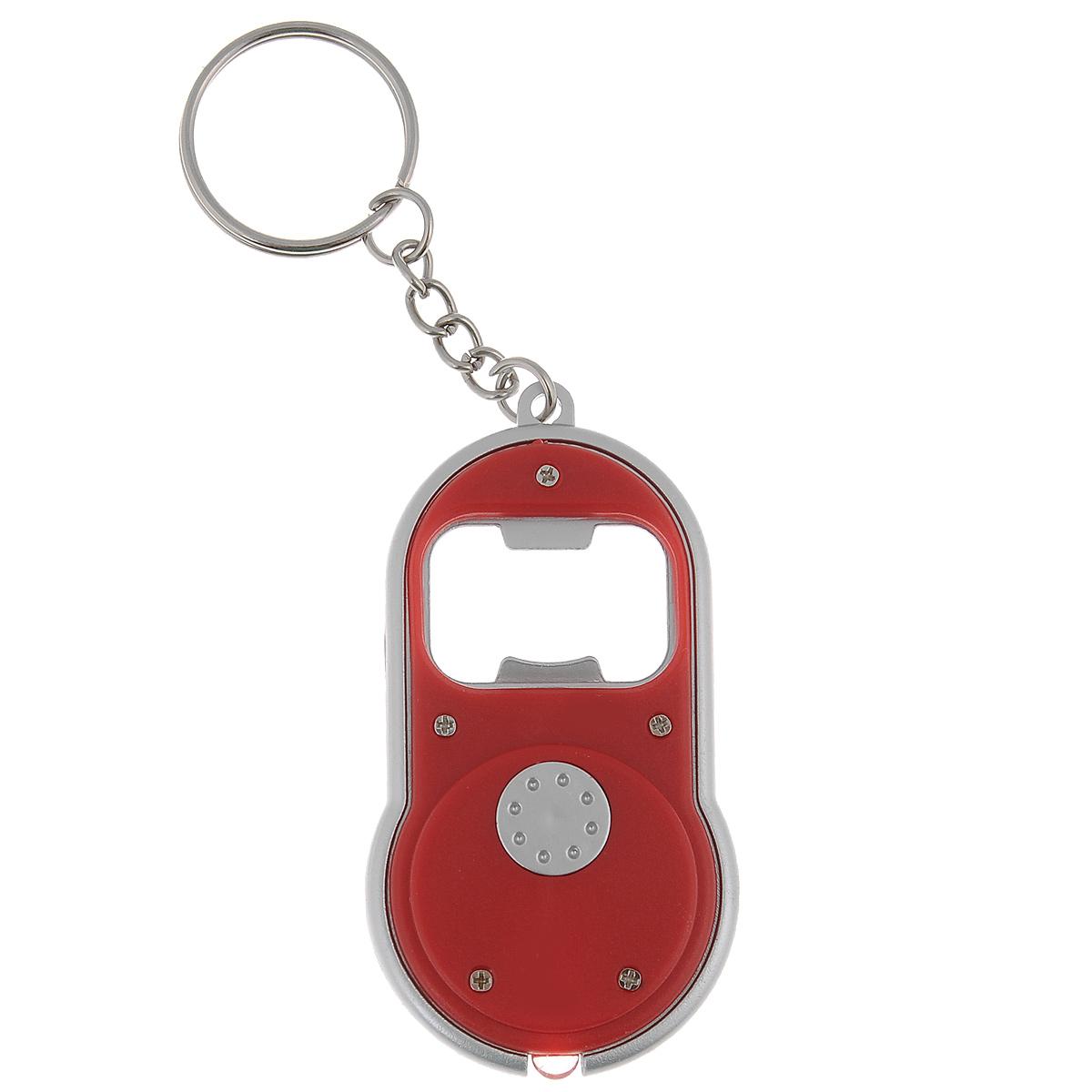 Брелок-открывалка для бутылок Bradex, с фонариком, цвет: красный, 4 см х 7 смTD 0285Простой и удобный аксессуар Bradex является сочетанием двух вещей, которые существенно облегчают повседневную жизнь. Брелок оснащен открывалкой и фонариком и легко крепится на сумке, связке ключей или легко помещается в кармане, чтобы быть под рукой в нужный момент.Работает от 2 батареек типа CR1120 (входят в комплект). Размер брелока: 4 см х 7 см х 0,7 см.