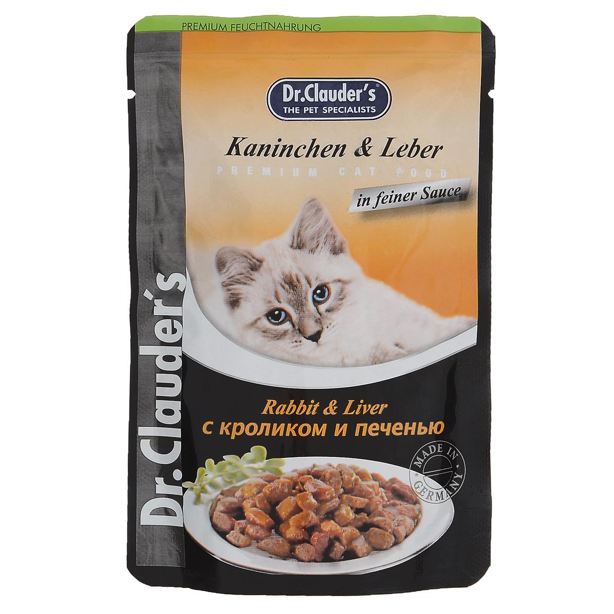 Консервы Dr. Clauders, для взрослых кошек, мясные кусочки в соусе с кроликом и печенью, 100 г14151Консервы Dr. Clauders - полноценное сбалансированное питание для взрослых кошек. Корм обладает высокойвкусовой привлекательностью и способен удовлетворить потребности любой кошки.Состав: мясо и мясные продукты (минимум 5% кролика, 5% печени), злаки, минералы, сахар. Добавки (в 1 кг): витамин D3 - 250 МЕ, витамин Е (альфа-токоферол) - 15 мг, медь - 1,0 мг, безискусственных красителей и консервантов.Содержание питательных веществ: протеин - 7,5%, жиры - 4,5%, зола - 2,5%, клетчатка пищевая - 0,3%, влажность -82%.Товар сертифицирован. УВАЖАЕМЫЕ КЛИЕНТЫ! Обращаем ваше внимание на ассортимент в дизайне упаковки товара. Поставка осуществляется взависимости от наличия на складе.