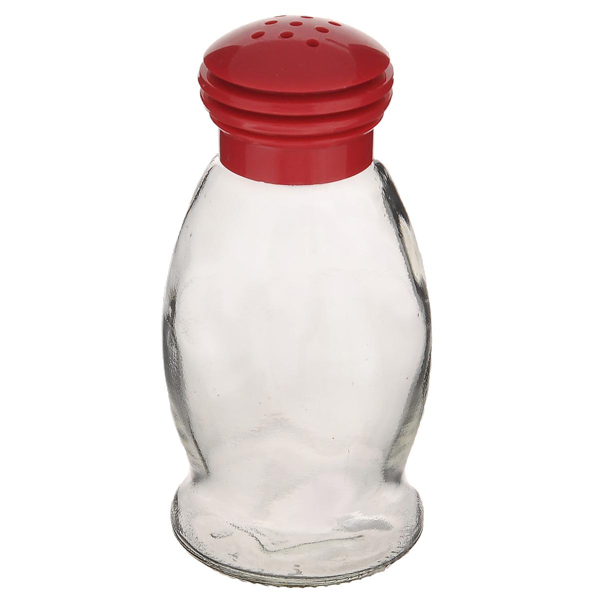Солонка Herevin, цвет: красный, 85 мл. 121091-000115510Солонка Herevin выполнена из прозрачного стекла и оснащена пластиковой цветной крышкой с отверстиями, благодаря которым, вы сможете посолить блюда, просто перевернув банку. Крышка легко откручивается, благодаря чему засыпать соль внутрь очень просто. Такая солонка станет достойным дополнением к вашему кухонному инвентарю. Можно мыть в посудомоечной машине.Объем: 85 мл.Диаметр (по верхнему краю): 2 см.Высота солонки (без учета крышки): 9 см.