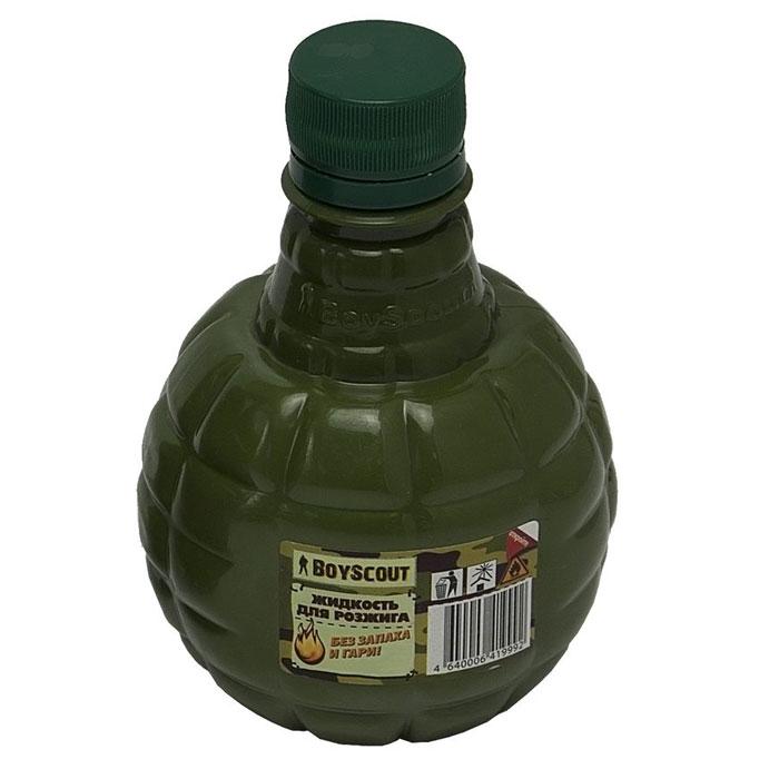 Жидкость для розжига Boyscout, парафиновая, 0,5 л391602Парафиновая жидкость Boyscout предназначена для розжига древесного угля, дров, топливных брикетов. Не имеет запаха и гари.