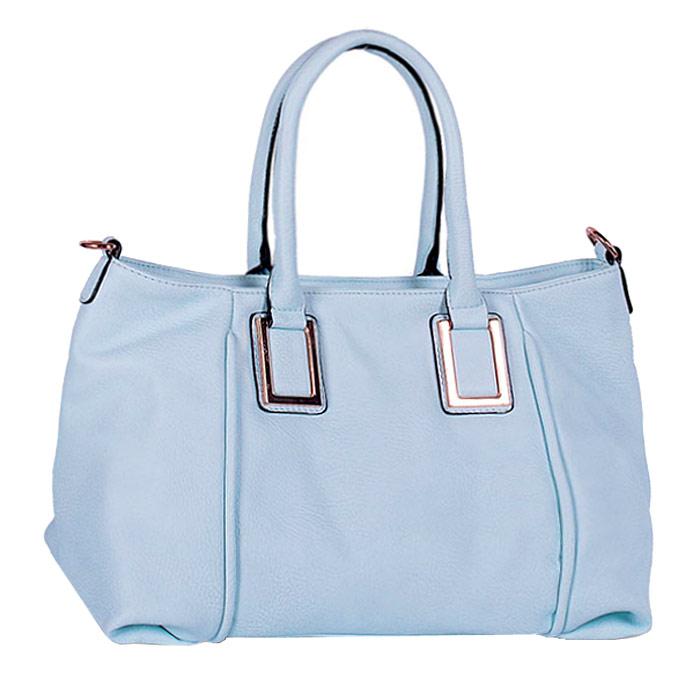Сумка женская Baggini, цвет: голубой. 29550/4010130-11Стильная женская сумка Baggini изготовлена из искусственной кожи. Модель закрывается на застежку-молнию. Внутри - одно отделение, разделенное средником с застежкой-молнией, также есть два накладных открытых кармашка и втачной карман на застежке-молнии. С внешней задней стороны - втачной карман на застежке-молнии. Дно дополнено металлическими ножками, защищающими изделие от повреждений.Сумка оснащена двумя удобными ручками и съемным наплечным ремнем, длина которого регулируется.Модная и элегантная сумка Baggini подчеркнет ваш яркий стиль и сделает образ завершенным.