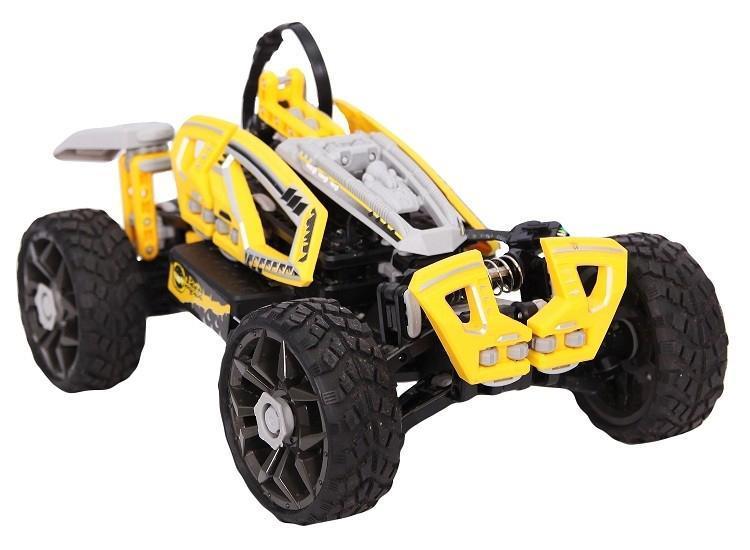 Машинка - Багги BALBI RCS-1002-Y на р/у – это современный и крутой подарок для мальчика в возрасте от 5 лет. Разработчики постарались создать продукт не только для развлечений, но и для развития ребенка. Игрушка сборная из легко соединяющихся деталей. Всего у данной модели 5 вариантов сборки. Так что вашему сынишке никогда не будет скучно! Более того машинка - Багги BALBI RCS-1002-Y на р/у желтого цвета отлично приспособлена к езде по неровным поверхностям, оснащена плавающей подвеской и трансформирующимися колесами. В общем, этот подарок никого не оставит равнодушным!