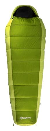 Мешок спальный KingCamp  Desert 250 KS 3104 , правосторонняя молния, цвет: зеленый, 215 см х 80 см - Спальные мешки