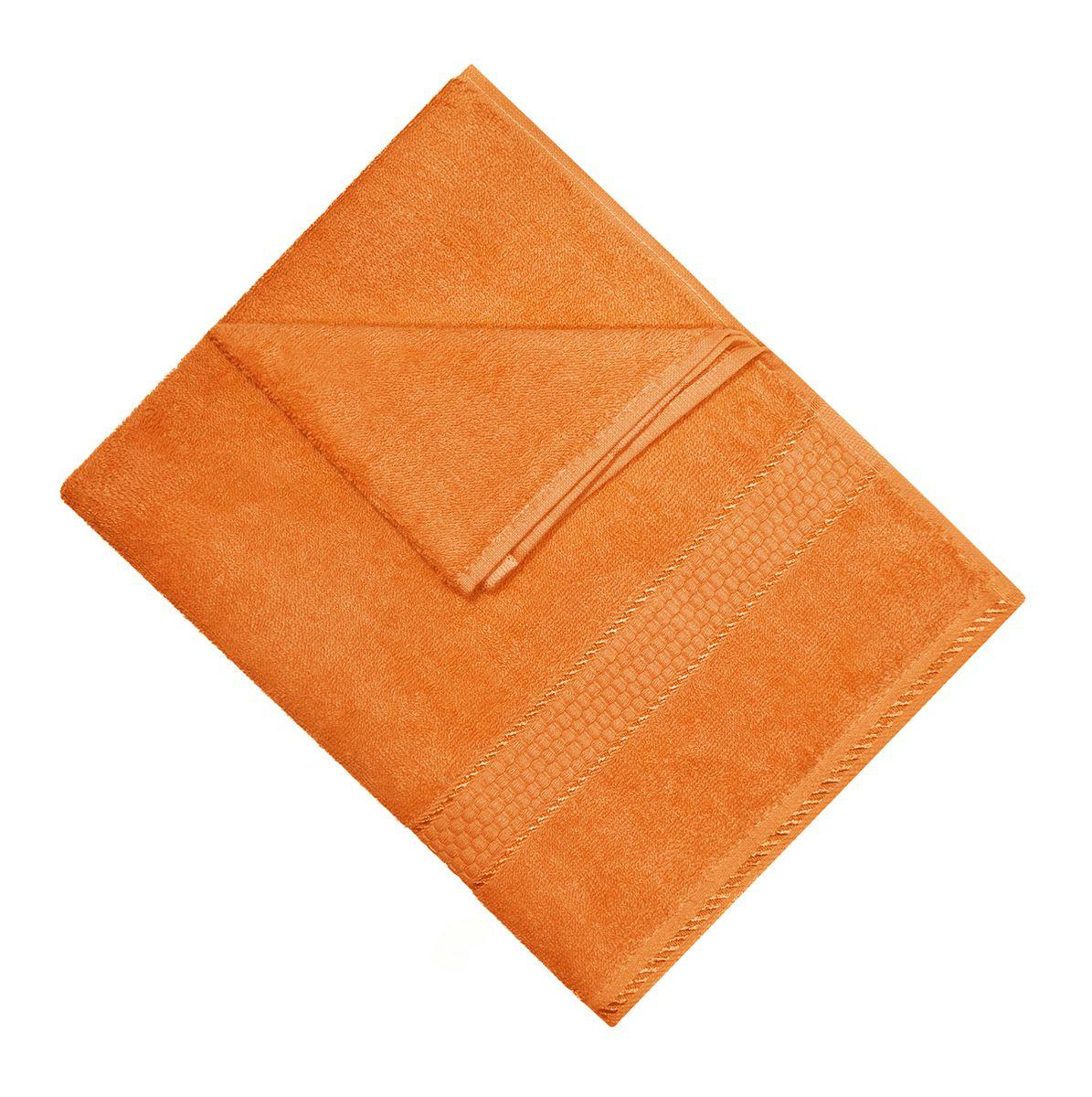 Полотенце махровое Osborn Textile, цвет: оранжевый, 50 х 90 см391602В состав полотенца Osborn Textile входит только натуральное волокно - хлопок. Лаконичные бордюры подойдут для любого интерьера ванной комнаты. Полотенце прекрасно впитывает влагу и быстро сохнет. При соблюдении рекомендаций по уходу не линяет и не теряет форму даже после многократных стирок. Плотность: 450 г/м2.