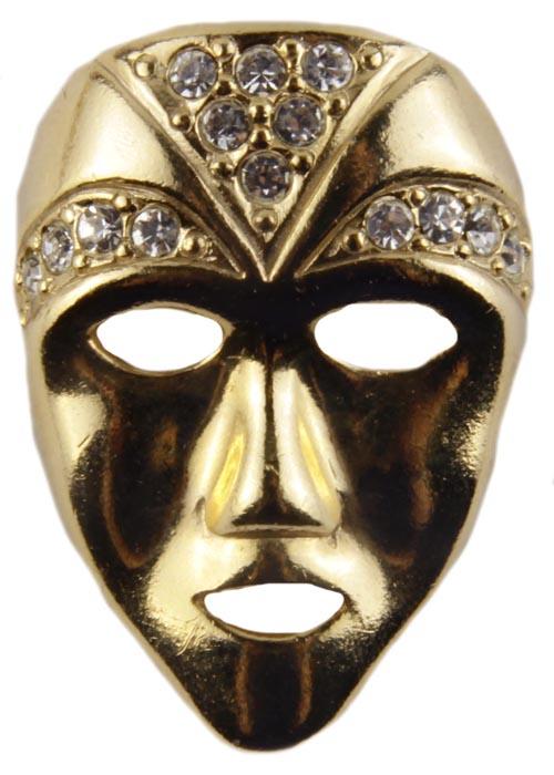 Винтажная брошь Венецианская маска. Ювелирный сплав, кристаллы. Конец XX векаБрошь-булавкаВинтажная брошь Венецианская маска. Ювелирный сплав, кристаллы.Западная Европа, конецХХ века. Размер броши 3.5 х 2.5.Сохранность хорошая. На оборотной стороне брошь имеет клеймо с серийным номером, что говорит об уникальности броши.Необычная брошь в виде маски из ювелирного сплава прекрасного качества.Поверхность металла гладкая блестящая.Кристаллы великолепной огранки словно бриллиантовое украшение переливаются при попадании на них лучей света.Данное украшение не оставит вас без комплиментов.Брошь станет прекрасным дополнением вашего как дневного, так и вечернего образа.