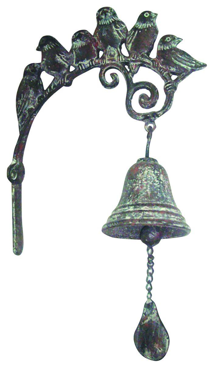 Дверной колокольчик Green Apple Птицы54 009318Дверной колокольчик Green Apple Птицы изготовлен из чугуна с эффектом старения. Кронштейн оформлен фигурками птичек. Колокольчик устанавливается непосредственно над дверью. Каждый раз когда дверь открывается, будет раздаваться мелодичный звон колокольчика. Колокольчик также можно установить рядом с дверью и использовать как звонок. В комплект входит крепление. На упаковке имеется краткое руководство по монтажу.