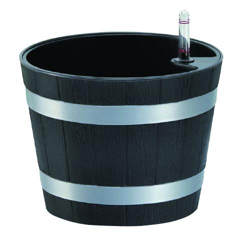 GREEN APPLE Круглый горшок с автополивом19 х 19 х 15 см (L), цвет: сливовыйKOC_SOL249_G4Кашпо имеет уникальную систему автополива, благодаря которой корневая система растения непрерывно снабжается влагой из резервуара. Уровень воды в резервуаре контролируется с помощью специального индикатора. В зависимости от размера кашпо и растения воды хватает на 2-12 недель.