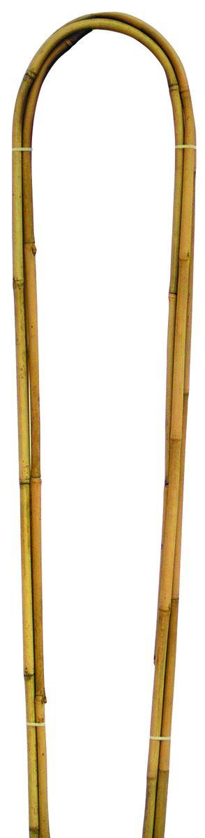 Дуга бамбуковая Green Apple, высота 90 cм, 3 шт1131636Опора-дуга Green Apple изготовлена из натуральных стеблей бамбука. Дуга используется для поддержки комнатных и садовых растений. Также используется при формировании композиций из растений. Комплектация: 3 шт.