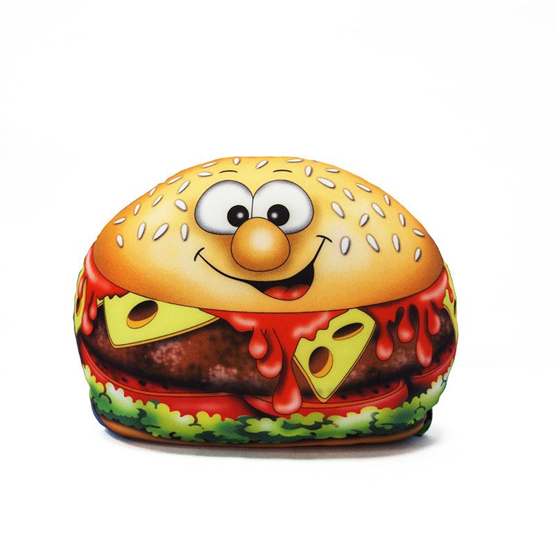 MAXITOYS Подушка Чизбургер38058Подушка выполнена в форме Чизбургера. Внешний материал-гладкий, эластичный и прочный трикотаж. Наполнитель: гранулы полистирола-крохотные шарики диаметром меньше миллиметра. Срок службы не ограничен.