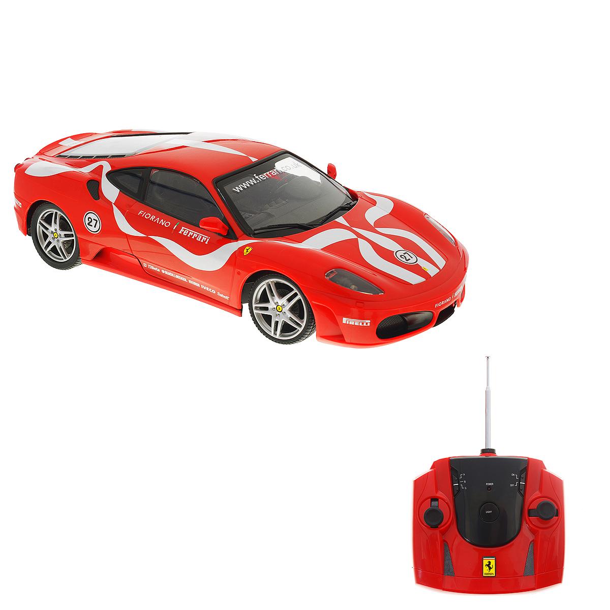"""Радиоуправляемая модель Silverlit """"Ferrari Fiorano"""" обязательно привлечет внимание взрослого и ребенка и понравится любому, кто увлекается автомобилями. Маневренная и реалистичная уменьшенная копия Ferrari Fiorano выполнена в точной детализации с настоящим автомобилем. Управление машинкой происходит с помощью пульта. Машинка двигается вперед и назад, поворачивает направо и налево (в том числе задним ходом). Игрушка оснащена световыми эффектами: у нее светятся фары, горят поворотные огни и стоп-сигналы. При движении машинки фары можно отключить с помощью пульта. Стоит лишь ребенку нажать кнопку на пульте, как у автомобиля загорятся фары, а его мотор будет издавать характерные звуки. Машинка может разгоняться до 20 км в час, но даже на этой скорости прекрасно входит во все повороты. У игрушки колеса прорезинены, поэтому она обеспечивает плавный ход игрушки и не портит напольное покрытие. В комплект входит инструкция по эксплуатации на русском языке. Продукция..."""