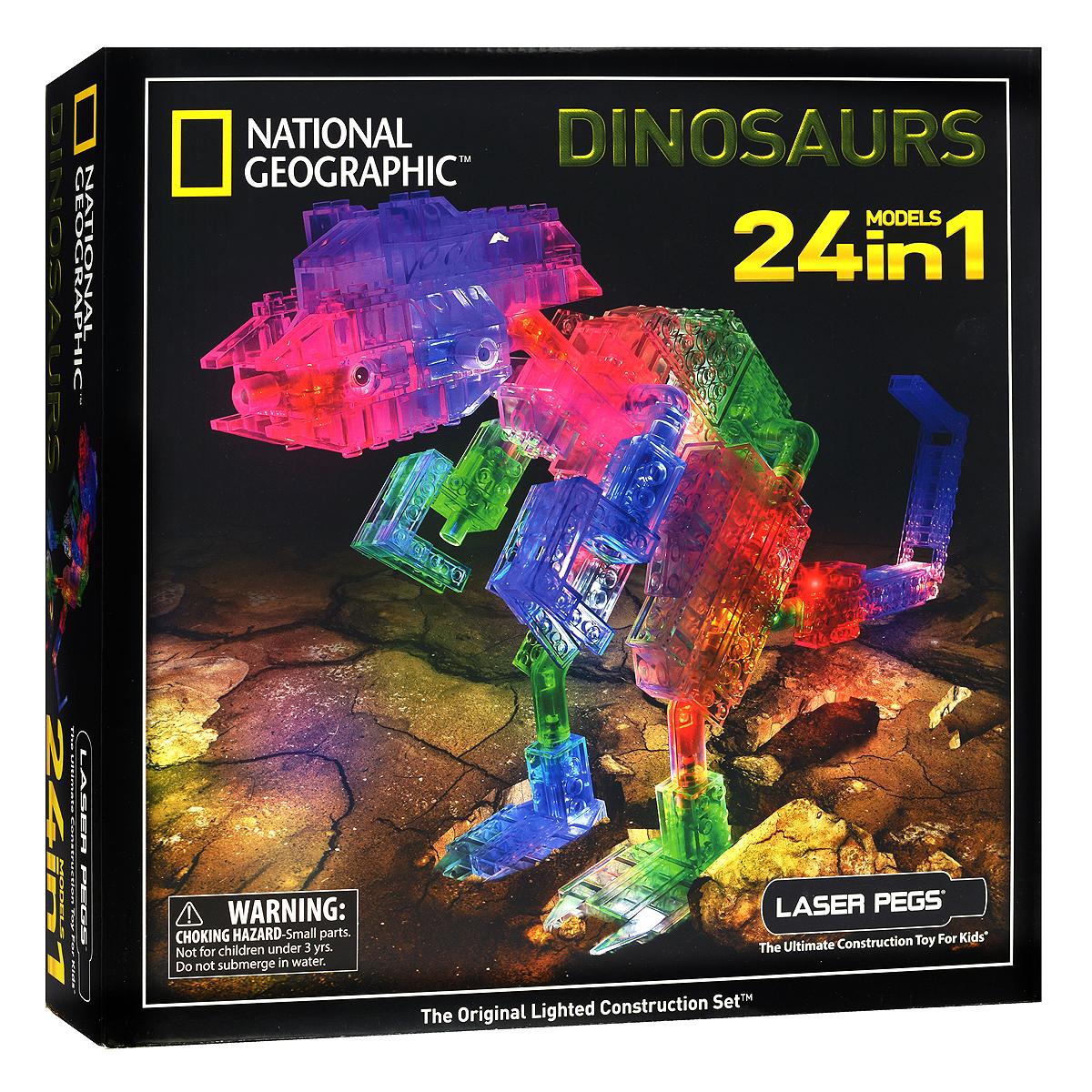 Laser Pegs Конструктор Динозавры 24 в 1  laser pegs конструктор динозавры 24 в 1