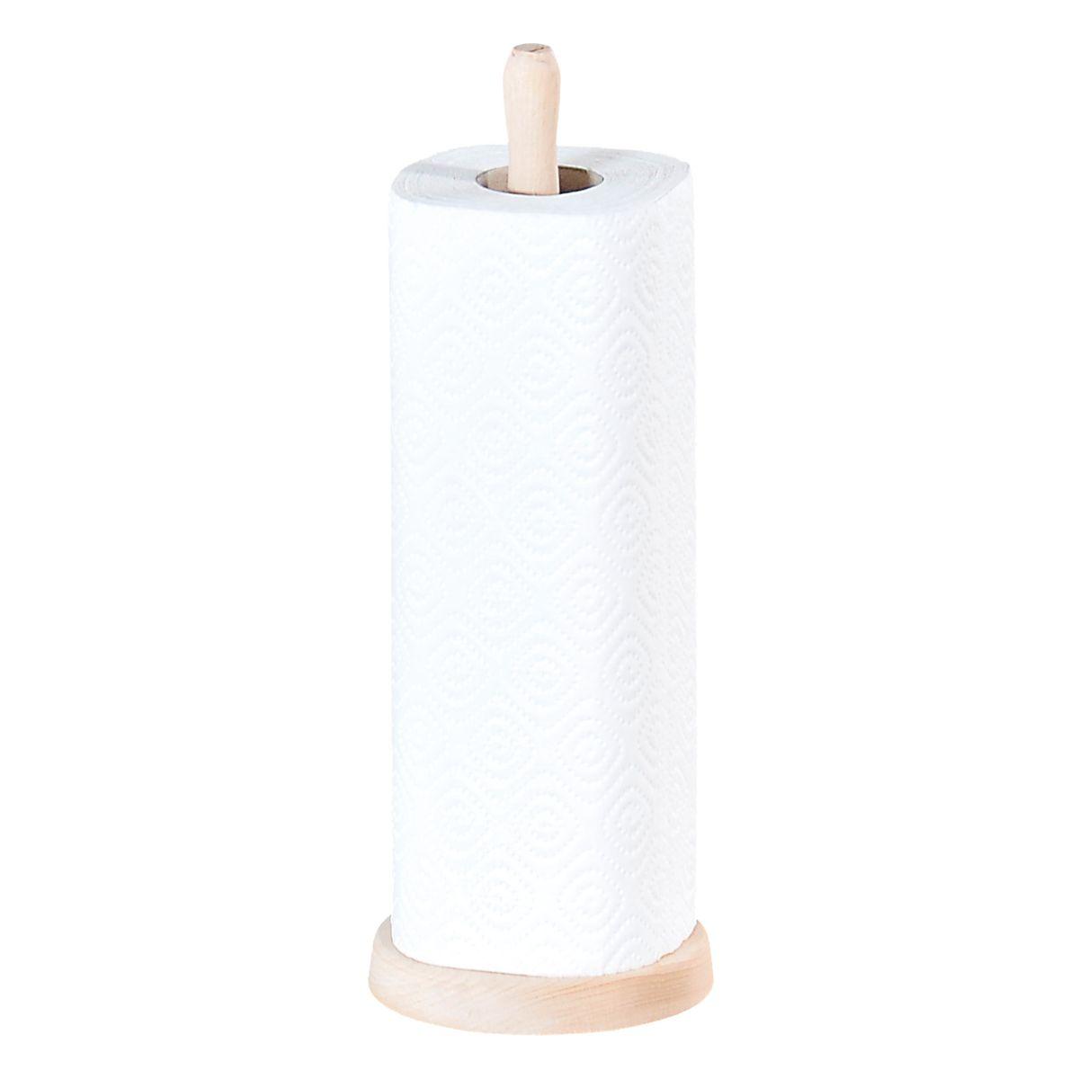 Стойка для бумажных полотенец Kesper, высота 33 см. 1200-2330590-660Стойка для бумажных полотенец Kesper изготовлена из натурального дерева. Состоит из круглого основания и стержня, на который устанавливается рулон с бумажными полотенцами. Стойка очень удобна в использовании.Оригинальный держатель стильно украсит интерьер кухни и станет аксессуаром, который будет обращать на себя внимание.Высота стойки: 33 см.Диаметр стойки: 11 см.