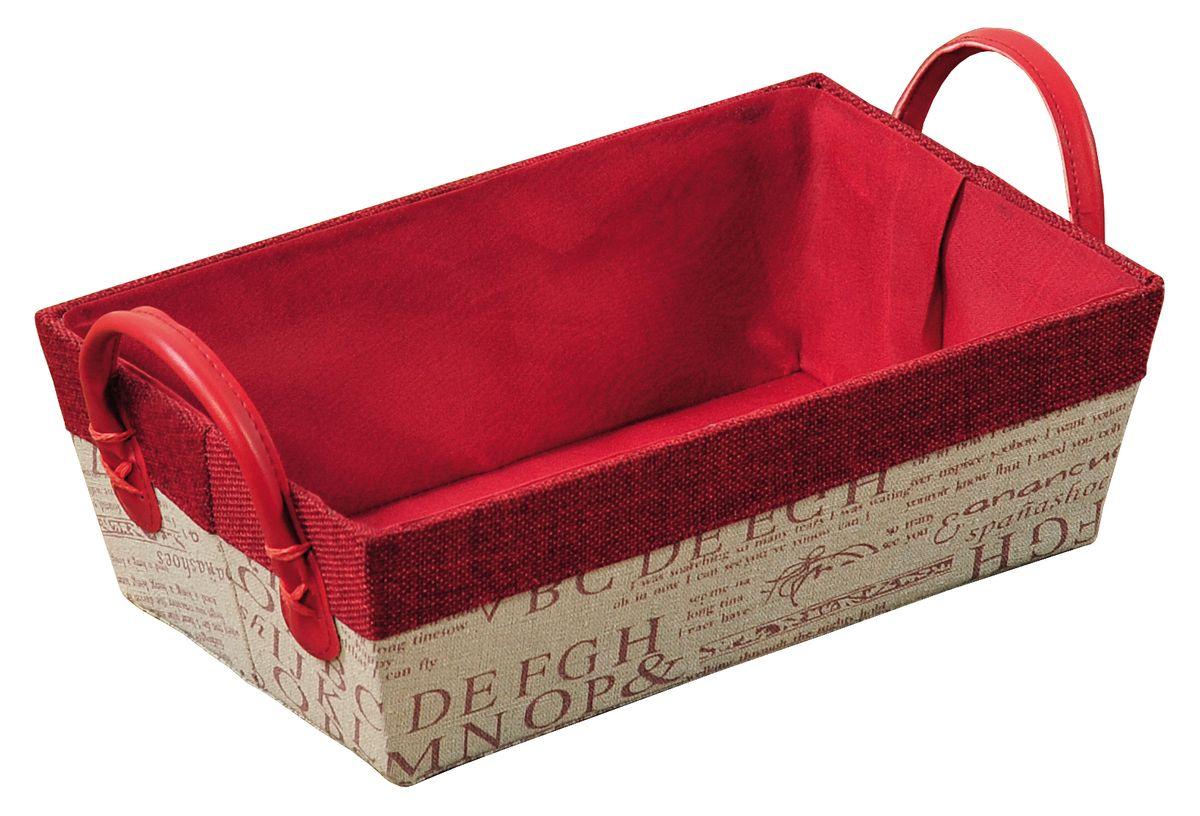 Корзина Kesper, с ручками, 28 х 18 х 9 смa030041Прямоугольная корзина Kesper изготовлена из высококачественного пластика и обшита ярким текстилем. Она предназначена для хранения хлеба, а также мелочей дома или на даче. Позволяет хранить мелкие вещи, исключая возможность их потери. Изделие оснащено удобными ручками из искусственной кожи.Корзина очень вместительная. Элегантный выдержанный дизайн позволяет органично вписаться в ваш интерьер и стать его элементом.Размер корзины по верхнему краю (без учета ручек): 28 х 18 см.Размер корзины по верхнему краю (с учетом ручек): 30 х 18 см.Высота корзины (без учета ручек): 9 см.