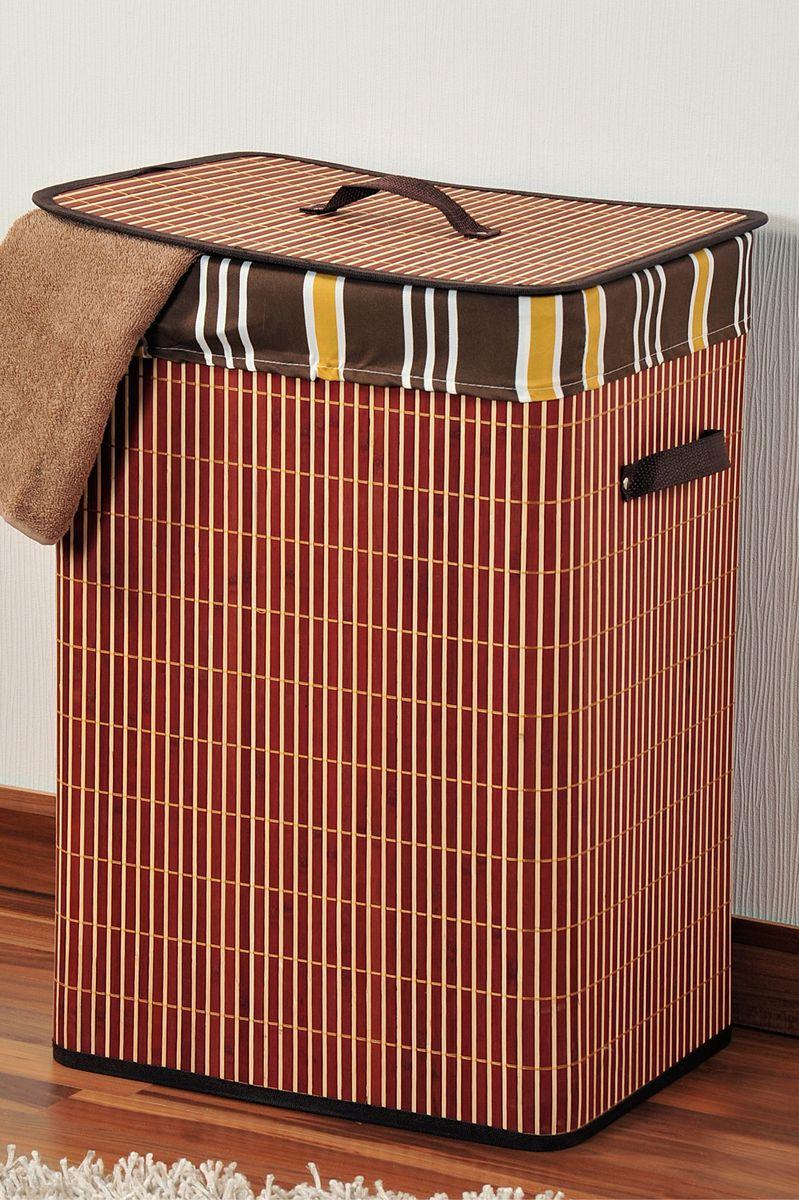 Корзина для белья Kesper, 42 х 32 х 60 см 1957-1PARADIS I 75013-1W ANTIQUEКорзина для белья Kesper, выполненная из натурального дерева, предназначена для хранения белья перед стиркой. Корзина очень легко собирается. Внутренний чехол корзины изготовлен из текстиля. Изделие оснащено крышкой и удобными ручками из искусственной кожи. Корзина для белья Kesper - это функциональная и полезная вещь, которая не только сохранит ваше белье, но и стильно украсит интерьер помещения.