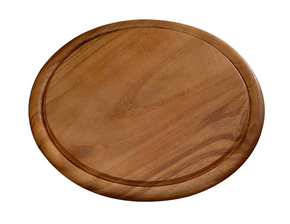 Доска подстановочная 30 см, темн.дерево115510Доска деревянная из темного дерева акации, круглая. Подходит для частого применения, имеет небольшой размер, что экономит место на кухне. Толщина-1,5 см, высота бортика -0,5см, внутренний диаметр - 26 см темное дерево