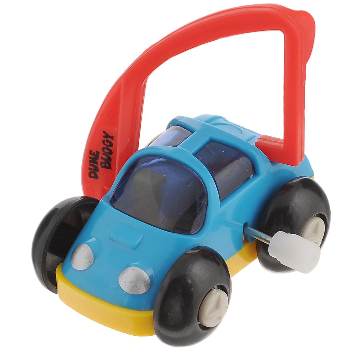 Игрушка заводная Багги, цвет: голубой, красный игрушка заводная машинка перевертыш цвет голубой красный
