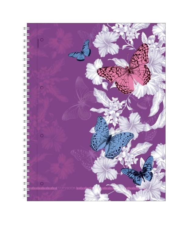 тетрадь А4 120л Butterfly Waltz, УФ-лак, жесткий ламинат (матовый), цвет: сиреневый33Отличная тетрадь подойдет как школьнику так и в повседневной жизни. Тетрадь сделана с качественной бумаги. Обложку украшает отличный принт.