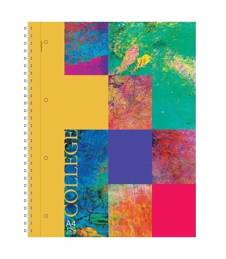 тетрадь А4 120л COLLEGE, жесткий ламинат (глянцевый), цвет: красный72523WDОтличная тетрадь подойдет как школьнику так и в повседневной жизни. Тетрадь зделана с качественой бумаги. Обложку украшает отличный принт.